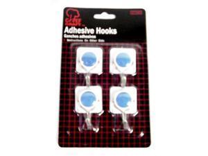 Bulk Buys Adhesive Hooks - Case of 48