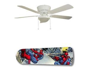 New Image Concepts 3148 52 in. Ceiling Fan with Lamp - Spiderman Superhero