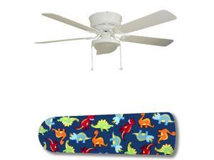 New Image Concepts 3149 52 in. Ceiling Fan with Lamp - Dinosaur Delight