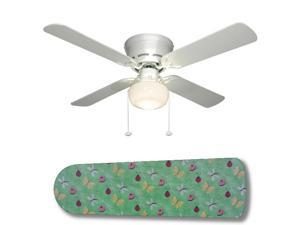 New Image Concepts 3222 52 in. Ceiling Fan with Lamp - Girl Bugs