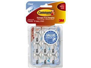 3m 17067CLR-VP 3m 17067CLR-VP Clear Command Wire Hooks