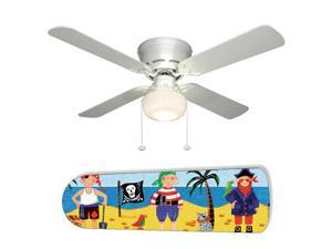 New Image Concepts 2078 52 in. Ceiling Fan with Lamp - Little Boys Pirate Island
