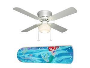 New Image Concepts 2079 52 in. Ceiling Fan with Lamp - Little Mermaid