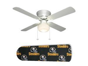 New Image Concepts 2105 52 in. Ceiling Fan with Lamp - Pittsburgh Steelers