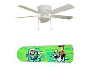 New Image Concepts 2999 52 in. Ceiling Fan with Lamp - Woody and Buzz Toy Story