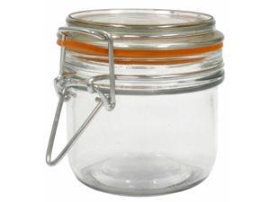 Anchor Hocking 98906 7.4 Oz Glass Heremes Clamp Jar - Case of 12