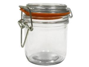 Anchor Hocking 98907 9.4 Oz Glass Heremes Clamp Jar - Case of 12