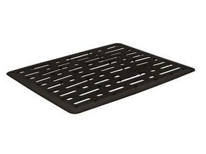 Rubbermaid FG1G17-06 BLK Twin Sink Mat - Black - Pack of 6