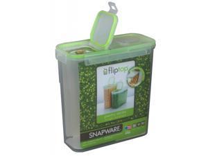 Snapware 1098433 15.3 Cup Slim Flip Top Rectangle Storage Container