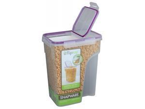 Snapware 1098427 22.8 Cup Jumbo Flip Top Rectangle Cereal Keeper