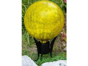 Achla G10-Y-C Gazing Globe 10 in. Lemon Drop Crackle