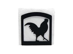 Village Wrought Iron NH-1 Rooster Napkin Holder