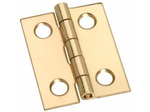 Stanley Hardware 803120 2 Count 1 in. Bright Brass Middle Hinges