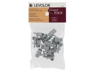 Levolor-kirsch Silver Carriers With Clips  7004244496
