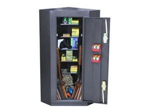 Homak HS30136010 Gloss Black 10 Gun Corner Cabinet