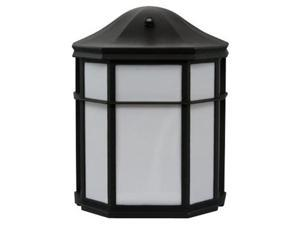 Efficient Lighting EL-158-123-BLK Timeless Outdoor Wall Pack  Die Cast Aluminum  Powder Coated Black  Acrylic Lens with Built-in photocell  Energy Star Qualified