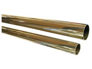 Hardware Distributors L00 A120 96 2 in. Tube 96 in. Length - Polished Brass