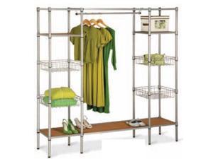 Honey-Can-Do International WRD-02350 Freestanding Steel Closet with Basket Shelves