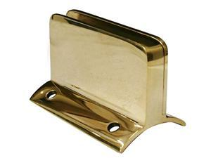 Hardware Distributors L00 812 2 .25 Glass Clip for 2 in. Tubing - Polished Brass