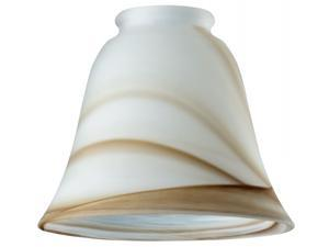 Westinghouse Lighting 8116700 2.25 in. Brown Swirl Bell Glass Fitter - Pack of 6