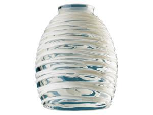 Westinghouse Lighting 8131400 2.25 in. Clear & White Rope Glass Fitter - Pack of 4