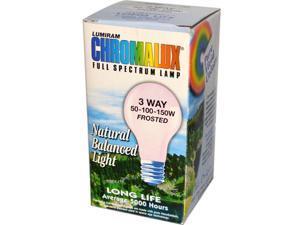 Chromalux 0598383 Lumiram Full Spectrum Lamp, 3 Way 50-100-150W Frosted, 1 Light Bulb - Bulb.