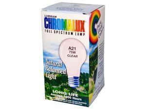 Chromalux 0608331 Lumiram, Full Spectrum Lamp, Clear, A21 75W, Clear, 1 Bulb - 75W Blb.