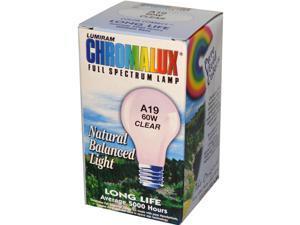 Chromalux 0468850 Standard Clear Light Bulb - 60 Watt - 1 Bulb