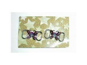 Bulk Buys Butterfly Metal Shoe Lace Charm Set - Case of 90