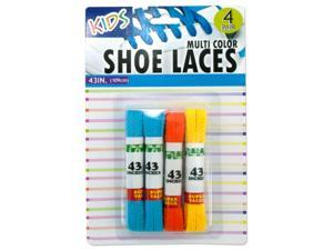 Kids colored shoelaces - Case of 12