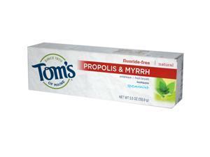 Toms Of Maine 0779991 Propolis and Myrrh Toothpaste Spearmint - 5.5 oz