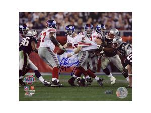 Steiner Sports MANNPHS008084 Eli Manning Super Bowl XLII Escaping Tackle Horizontal 8x10 Photo