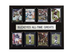 C  #38; I Collectables 1215ATGBUCK NCAA Football Ohio State Buckeyes All-Time Greats Plaque