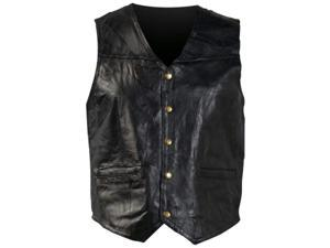 Giovanni Navarre Italian Stone Design Genuine Leather Vest- 7x