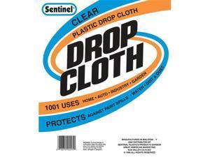 Gam Paint Brushes 10ft. x 20ft. Sentinel Clear Plastic Drop Cloths  DC90121
