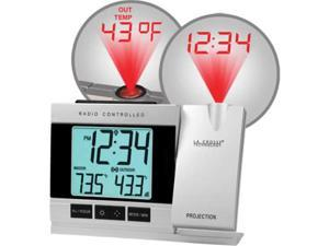 La Crosse Technology WT-5220U-IT-CBP Projection Alarm Clock with IN-OUT Temperature