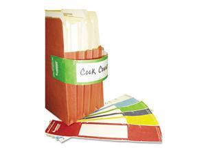 Tabbies 68809 File Pocket Handles, 9.63 x 2, Green-White, 48-Pack