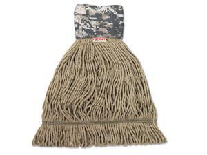 Unisan 8200L Patriot Looped End Wide Band Mop Head, Large, Green-Brown, 12-Carton