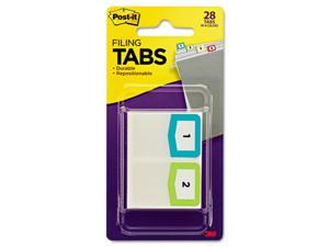 Post-It 686-NMBR Preprinted File Tabs, 1 .75 x 1.5, Numbers 1-12, 28-Pack