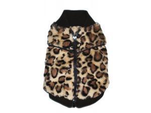 Hip Doggie HD-7BCV-M Medium Brown Cheetah Mink Sweater Vest