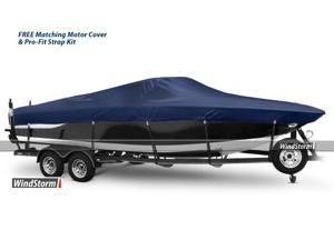 Eevelle WSAFH21102B Yellow WindStorm Semi-Custom Boat Cover Manufactured by EevelleAluminum fishing boats with high windshield mounted foward -Outboard Motor
