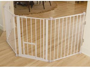 Carlson 1510PW Flexi Walk-Thru Gate with Pet Door