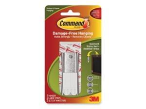 3M 17047 Command Sticky Nail Sawtooth Hanger 1 hanger, 2 large strips, 2 sets of mini str