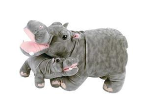 FIESTA A30426 18 in. Stuffed Mother Hippo and Baby Toy