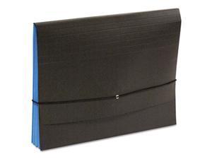 S J Paper S84684 Fusion Clutch Organizer, 1 .75 in. Exp, Letter, Black-Blue, 10-BX