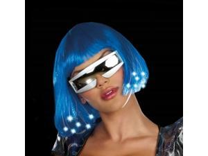 Dreamgirl 212776 Intergalactic Light Up Blue Wig - Adult - Blue - One-Size