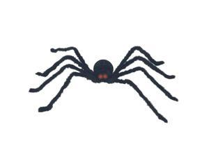 Seasons HK 198174 Black Posable Spider with Light and Sound - Black