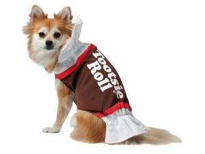 Rasta Imposta 213439 Tootsie Roll Dog Costume - White-Brown - Large