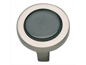 Atlas Homewares 229-BLK/BRN 1.25 in. Spa Collection Round Knob - Brushed Nickel and Black