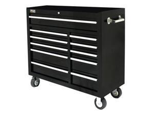 Homak BK04011410 41 Inch SE 11 Drawer Rolling Cabinet-Black